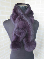 Real rabbit fur scarf/  wrap/ collar 2016 new shawl violet scarf