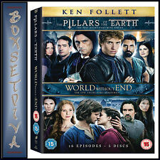 THE PILLARS OF THE EARTH & WORLD WITHOUT END *BRAND NEW DVD BOXSET*