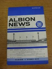 24/09/1966 West Bromwich Albion v Stoke City  (Light Crease).  When listing we t