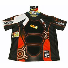 New NERF Official COMPETITION JERSEY Sz L/XL DART TAG Darts Stick ORANGE