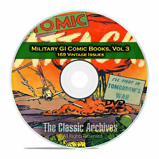 Military, Atomic Attack, Fightin Army, Marines, 169 Golden Age Comics DVD D14