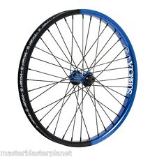 "SUBROSA TURBO FRONT 20"" WHEEL COMPLETE BMX BIKE BICYCLE SHADOW BLUE BLACK FADE"