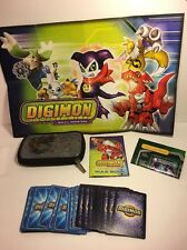 Digimon Monsters Trading 43 Cards Lot, Poster, Rule Book, & Pokemon Case