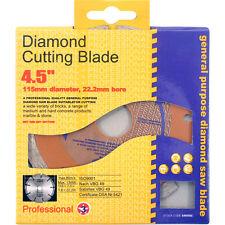"""115mm 4.5 """"diamante taglio Mattone Blocco cemento DISCO LAMA DEWALT MAKITA BOSCH"""