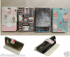 CUSTODIA COVER FLIP LIBRO STAND GEL GOMMA per ALCATEL ONE TOUCH Pop C9 7047 A D