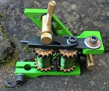 BORDER TATTOO MACHINE LINER POWDER COATED IRON FRAME CUSTOM GREEN T-TOP COILS
