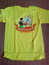 Teefury Shirt - Punch Em Out - gelb yellow - Punch Out NES - S