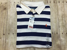 RALPH LAUREN POLO SHIRT SS STRIPESRUGBY BOYS SIZE MEDIUM 10-12 NEW WITH TAGS