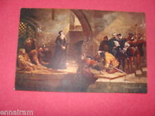 Archbishop Cranmer Traitor's Gate Tower of London vintage unused color postcard