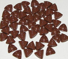 LEGO LOT OF 50 NEW REDDISH BROWN TRICORNE TRIANGLE PIRATE HATS CAPS PARTS