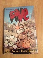 SIGNED & DOODLED The Great Cow Race Graphix #2 Jeff Smith HC + Pic Bone1st