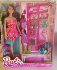 Barbie da gioco con tante scarpe e borse 2014 nrfb
