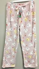 EASTER BUNNY PAJAMAS LADIES SIZE LARGE PINK FLEECE NEW TAG