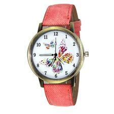 Women Fashion Watch Butterfly Leather Analog Quartz Wrist Watch Business Watch