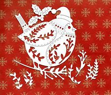 NEW TATTERED LACE LARGE QUILTED ROBIN  DIE CUTS -. -CHRISTMAS TOPPER SILHOUETTE