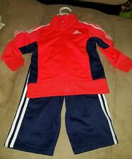 Neon orange Navy Adidas Tracksuit for Baby Boy - size 18 months