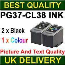 3 Ink Cartridge For Canon PG37 CL38 Pixma iP2500 iP2600 iP1800 iP1900 MP190