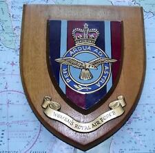 Old RAF WRAF Womens Royal Air Force Station Crest Shield Plaque Badge