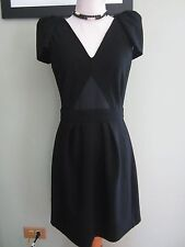 Maje Black V Neck Career Dress Size M