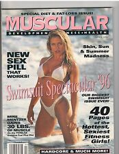 MUSCULAR DEVELOPMENT muscle magazine/SWIMSUITS/Monica Brant/Frank Sepe 4-96