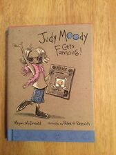 SIGNED - Judy Moody Gets Famous! No. 2 by Megan McDonald HC + Pic
