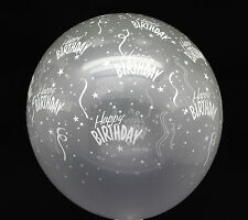50X Latex clear Transparent Balloon Happy Birthday Kid Party Supplies Arch decor