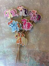 My Little Pony Cake Picks / Flags Party Cupcake Decorations X 12