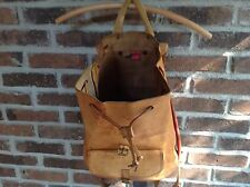 VTG 1970's BREE BASEBALL GLOVE LEATHER BACKPACK RUCKSACK BAG TOP-HANDLE R$749