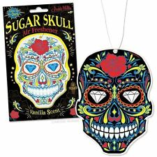 Glow-In-The-Dark Vanilla Scented Sugar Skull Deluxe Air Freshener Car Smell NEW