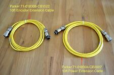 *NEW* Set of 10ft Parker Servo Motor 'MS' Style Encoder & Power Extension Cables