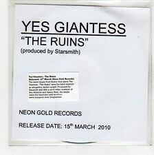(FU986) Yes Giantess, The Ruins - 2010 DJ CD