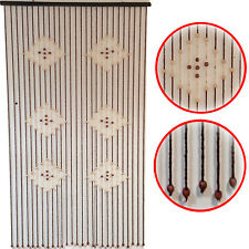 New Natural 6 Diamonds Bamboo Beaded Curtain Doorway Windows Room Divider Screen