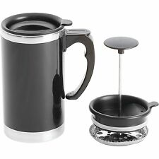 Wyndham House 21oz Stainless Steel Lined, Double-Wall Travel French Press Mug