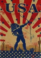 """12x18 12""""x18"""" USA Native American Indian Vertical Sleeve Flag Garden"""