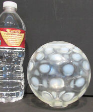"""OLD OPALESCENT COIN SPOT GLASS GLOBE for LIGHT FIXTURE * 5 to 5 1/2"""" DIA *SALE**"""