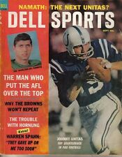 1965 Dell Sports Magazine football Johnny Unitas Baltimore Colts Joe Namath Fair