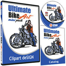 MOTORCYCLE BIKER CLIPART-VINYL CUTTER PLOTTER-VECTOR CLIP ART CD