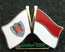 LONDON 2012 Olympic  MONACO NOC Internal team - delegation dated flags pin