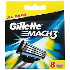 8 (NEW M3) GENUINE GILLETTE MACH 3 M3 SHAVING RAZOR CARTRIDGES BLADES (FREE S&H)