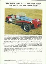ROBIN HOOD ENGINEERING S7 KIT CAR (TRIUMPH DOLOMITE)  SALES 'BROCHURE'/SHEETS