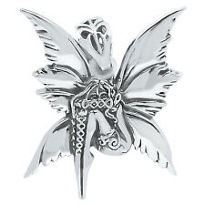 Bashful Fairy 925 Sterling Silver Pendant Plain Design Jewelry SPJ2219