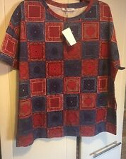 zara printed tshirt top red blue size M brand new with tags