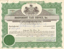 Independent Taxi Service, Inc   1966 Pennsylvania stock certificate share