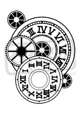 A7 'Watch Cogs' Unmounted Rubber Stamp (SP001245)