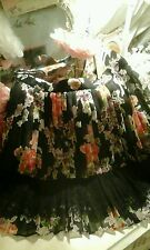 Bnwot topshop floral roses large lace panel skirt