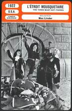 L'ETROIT MOUSQUETAIRE - Max Linder(Fiche Cinéma)1922 - The Three Must-Get-Theres
