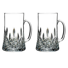 WATERFORD LISMORE 20 OZ. BEER MUG PAIR BRAND NIB #40016539 CRYSTAL SAVE$$ F/SH