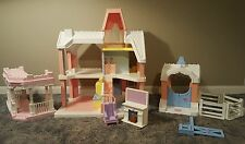 1991 Vintage Playskool Dollhouse with Stable Patio Accessories