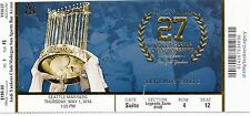 2014 NY YANKEES VS MARINERS JETER LAST YEAR SUITE TICKET STUB 5/1 WS TROPHY