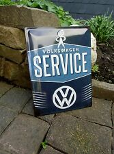 VOLKSWAGEN - SERVICE - VW MAN - Embossed WALL SIGN Beetle Bus - Made in Germany
